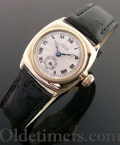 1920s 9ct gold ladies vintage Rolex Oyster watch