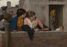 Luigi da Rios, Overlooking a Canal, Venice, 1886. Glasgow Museums; Bequeathed by Adam Teacher, 1898 (787). © CSG CIC Glasgow Museums Collection. Courtesy American Federation of Arts.