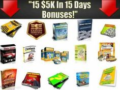 Video details 15 bonus you can get with your purchase of $5k in 15 days.