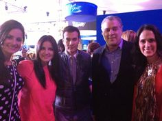 Maite Perroni, David Zepeda, director P Latinoamérica y Ana La Salvia (Yo)