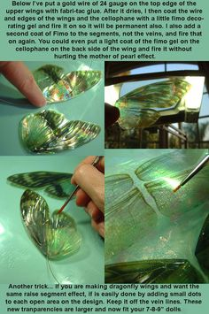 Diy Crafts - Very nice, made with transparency film/paper. Like the little remark about dragonfly wings. Fairy Crafts, Diy And Crafts, Arts And Crafts, Paper Crafts, Dragonfly Wings, Butterfly Wings, Butterfly Fairy, Diy Fairy Wings, Diy Wings