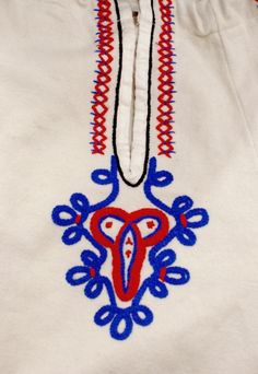 Embroidery motif on the trousers: folk costume of Babiogórcy (inhabitants of the northern slopes of Babia Góra), Poland.