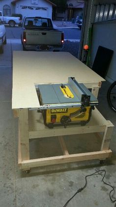 Table saw work bench in progress.