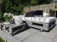 #Daybed, #Garden, #Lounge, #RecycledPallet