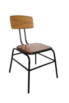Zabrini Retro Urban Kitchen Dining Chair Wood Seat Industrial Style Fully Assembled Price Per Pair Metal Dining Chairs, Side Chairs, Retro Furniture, Home Office Furniture, Industrial Metal, Industrial Style, Urban Kitchen, Kitchen Dining, Cafe Interior
