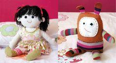 Je réalise une poupéeAvec sa bouille craquante et ses drôles de cheveux en brins de laine cousus, cette poupée en tissu fera fondre plus d'une petite fille.