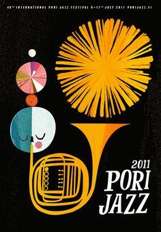 Retro Finnish Jazz Poster from Puustinen Puustinen Mander Art And Illustration, Graphic Design Illustration, Illustrations Posters, Graphic Art, Arte Jazz, Jazz Art, Poster Jazz, Gig Poster, Festival Posters