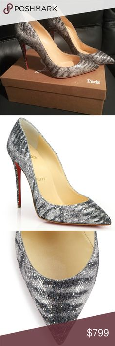 Christian Louboutin Animal Pigalle Follies Glitter Christian Louboutin Women's Metallic Pigalle Glittered Animal-print Pumps 100 mm New With NORDSTROM Tags at the Bottom & Box ( no dust bags or heel taps) Style is completely Sold Out Size 39 Christian Louboutin Shoes Heels