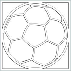 Soccer Ball 12 x 12 Overlay Laser Die Cut Soccer Cards, Soccer Gifts, Scrapbook Templates, Scrapbooking Layouts, Kirigami, Vinyl Crafts, Vinyl Projects, Free Frames, Birthday Cards For Men