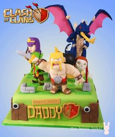 Clash Games provides latest Information and updates about clash of clans, coc updates, clash of phoenix, clash royale and many of your favorite Games Clash Royale, Clash Of Clans, Pumkin Carving, Happy 50th, Cakes For Boys, Girl Birthday, Birthday Cakes, Fondant Cakes, Themed Cakes