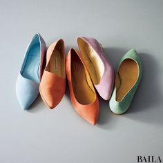オフィスでモテる「上品淡色バッグ&靴」6選-@BAILA