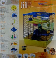 Marchioro Jill 42.2 Pet Hamster Cage & Accessories Mice, Ginny Pig  Small Animal #Marchioro