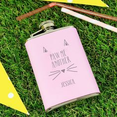 You can personalise this hip flask with a name up to 12 characters in length. All personalisation will automatically appear in UPPERCASE.  The text 'PAW ME ANOTHER' is fixed and cannot be amended.   This Hip Flask comes presented in a gift box.  The material of this product is stainless steel.  Steel is the material for an 11th Wedding Anniversary and this Hipflask would make the perfect gift!  Perfect for Mother's Day, Birthdays, Christmas, Valentines.