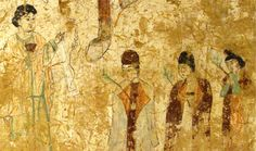 This may be one of the most ancient and unusual artistic representations of Palm Sunday: a fresco in a Nestorian church in China, dating from the Tang Dynasty (683-770 AD). The Nestorians were an early Christian sect. Condemned as heretical by the Council of Chacedon in 451 AD. Persecuted by Orthodox Christians, they migrated to Persia and China. This painting depicts a Palm Sunday procession in a seventh-century Nestorian Christian community in China, led by the priest.