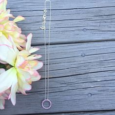 Purple Circle Necklace Gorgeous silver circle necklace • two latches on chain • worn maybe once • NOT pandora Pandora Jewelry Necklaces