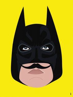Bat Stache Art Print