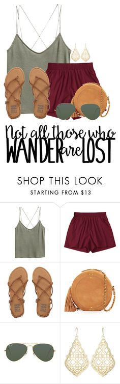 """""""Alabama!"""" by annaewakefield ❤ liked on Polyvore featuring H&M, Billabong, Jérôme Dreyfuss, Ray-Ban and Kendra Scott"""