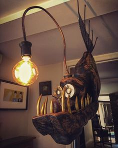 Diy Discover Source by decoration wood lamp decor lamp Lampe Steampunk Steampunk Lamp Steampunk Furniture Purple Home Sculpture Metal Angler Fish Metal Art Lamp Light Artsy Fartsy Purple Home, Lampe Steampunk, Steampunk House, Luminaria Diy, Fish Lamp, Sculpture, Furniture Arrangement, Design Crafts, Metal Art