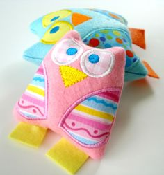 Owl Softie, In The Hoop - 3 Sizes! - Products - SWAK Embroidery