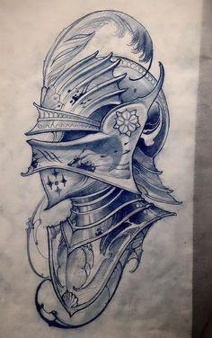 60 Awesome Tattoo Designs Men Sleeve Dragon 112 Half Sleeve Tattoos for Men and Women Dragon Tattoo Bazza Kunst Tattoos, Bild Tattoos, Body Art Tattoos, Tattoo Sketches, Tattoo Drawings, Drawing Sketches, Dibujos Tattoo, Desenho Tattoo, Knight Tattoo