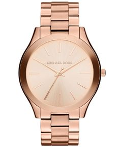 Michael Kors | Women's Slim Runway Rose Gold-Tone | $180 Macy's