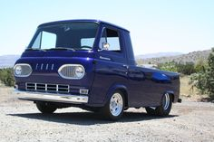 1960s Ford Econoline E100 dark blue van pickup
