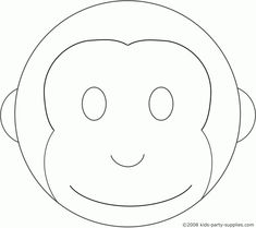 Cake templates clear scraps xl shapes caketemplates for Monkey face template for cake