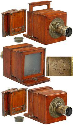 (1845) Early Sliding Box Daguerreotype Camera