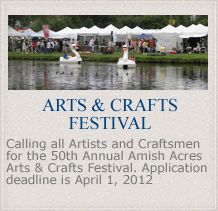 Amish Acres. Arts and Crafts Festival. Dinner Theater. Family Style Dining. Resort.
