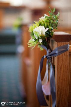 Aisle Decorations: I would love to be able to do this with DIY flowers.   Also this site has a lot of other great aisle and ceremony decoration ideas!