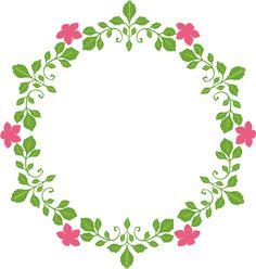 飾りフレームNo.00318 : flower roundのPNG transparent image