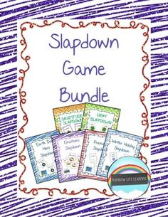 Are you looking for a fun and easy way to inspire your students to write more and develop their ideas more? My students have loved playing these Slapdown card games to brainstorm their writing ideas. Each game gives students a chance to think about and discuss their personal responses to the topics on the cards.