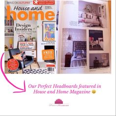 'Perfect Headboards' in House and Home Magazine