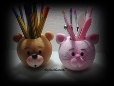 Something went wrong. Polymer Clay Animals, Polymer Clay Crafts, Diy Clay, Polymer Clay Projects, Polymer Clay Creations, Pen Holders, Pencil Holder, Diy Paso A Paso, Clay Pen