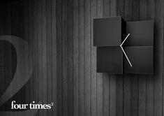 Cubist Wall Clocks - The Four Times2 Timepiece Embodies the Most Perfect of Proportions (GALLERY)