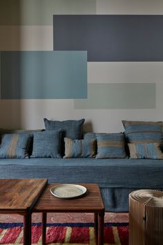 French interior designer Marianne Evennou has a knack for color. Even for those of us on the Remodelista team for whom grey feels like a bold choice, Evenn Bedroom Wall Designs, Bedroom Decor, Wall Decor, French Interior, Interior Design, Low Bookshelves, Dark Blue Walls, Colorful Apartment, Blue Streaks