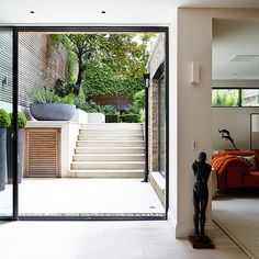 a tour around this stylish London home Basement conversion Basement Apartment Decor, Basement Bathroom, Bathroom Ideas, Apartment Ideas, Basement Walls, Basement House, Basement Kitchen, Basement Entrance, Walkout Basement