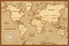 Vintage world map cartography concept Free Vector World Map Wallpaper, Travel Wallpaper, Brazil World Map, Nautical Tattoo Sleeve, Band Tattoos For Men, Cute Simple Wallpapers, First Youtube Video Ideas, World Map Design, Map Tattoos
