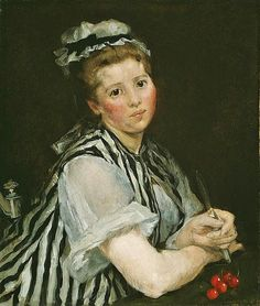 Eva Gonzalès met Édouard Manet in 1869 and was to become his student, colleague and model. Manet is said to have begun a portrait of her at once which was completed on 12 March 1870 and exhibited at Salon in that year. Paul Cézanne, Camille Pissarro, Edgar Degas, Claude Monet, Renoir, Anton, Diego Velazquez, Alfred Stevens, Leila