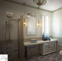 Ванна в восточном стиле Санузел в восточном стиле гармонично дополняет дизайн всего дома. Предварительно были подготовлены и согласованы планы по размещению