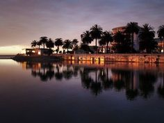 Picture of City of Vina del Mar (Chile) reflecting on the river Marga Marga at dusk stock photo, images and stock photography. Places To Travel, Places To Go, Destin Beach, Holiday Destinations, Wine Country, Beautiful Landscapes, South America, Places Ive Been, Scenery