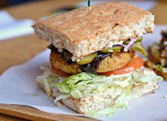 The Prairie-Fried Chick'n Burger at Boon Burger in #Winnipeg: a grilled tofu-rice-oat patty smothered in homemade barbecue sauce: http://enroute.aircanada.com/en/articles/best-new-restaurants-winnipeg // Le Prairie-Fried Chick'n Burger du Boon Burger à #Winnipeg, une galette grillée de tofu, riz et avoine, recouverte d'une sauce barbecue faite maison: http://enroute.aircanada.com/fr/articles/le-top-7-des-nouveaux-restaurants-a-winnipeg