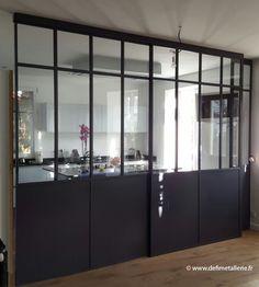 verri re d 39 int rieur atelier d 39 artiste cloison vitr e en acier verri re type loft baie. Black Bedroom Furniture Sets. Home Design Ideas
