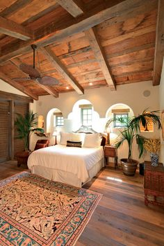 How to Install a Reclaimed Wood Floor - My-House-My-Home Spanish Style Homes, Spanish House, Spanish Revival, Spanish Style Decor, Spanish Style Bedrooms, Spanish Bedroom, Spanish Colonial Decor, Spanish Style Interiors, Mexican Bedroom