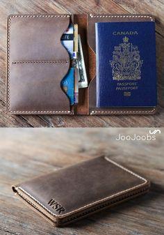 Leather Passport Wallet by JooJoobs