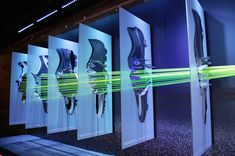 """NIKE, London, """"Nike's dramatic schemes capture the movement within the display"""", pinned by Ton van der Veer"""