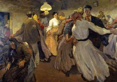 Graziosi Giuseppe, Ballo Paesano (Galleria d'Arte Moderna Ricci Oddi, Piacenza)