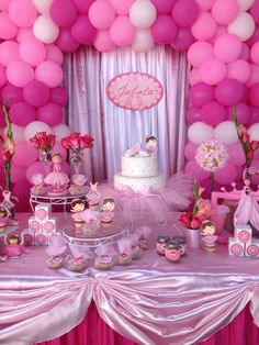 Bailarina de balletpin Ballerina Birthday Parties, Princess Birthday, 1st Birthday Parties, Balloon Decorations, Baby Shower Decorations, Backdrops For Parties, Childrens Party, Baby Shower Parties, Event Organization