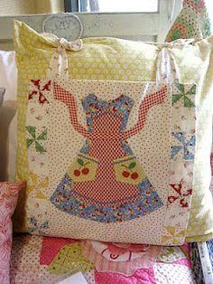 Lori Holt's apron Pillow