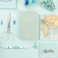 """Libreta pautada """"Recueil d'Essais"""" - Mint #mrwonderful #office #home #notebook #mint"""